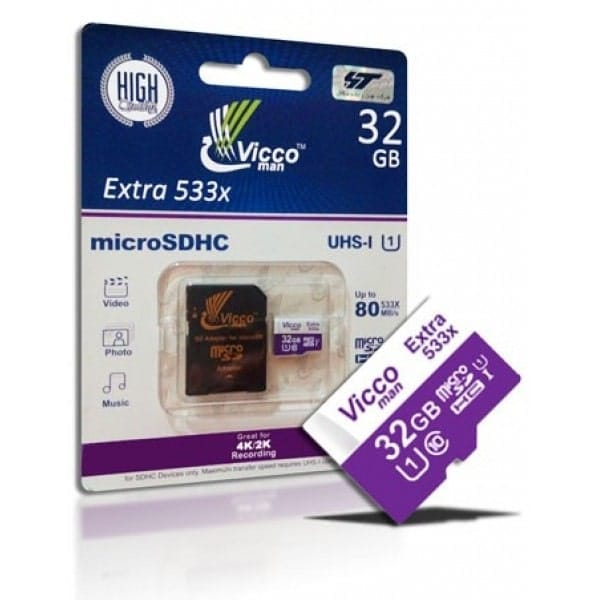کارت حافظه microSDHC ویکو من مدل Extra 533X ظرفیت 32 گیگ